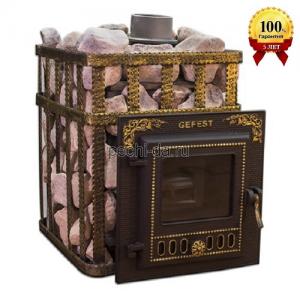 Печь для бани с закрытой каменкой ПБ-04МС ЗК Гефест