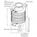 Чугунная отопительно-варочная печь Турбо-ВВД